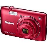 Nikon A300 Coolpix Digital Compact Camera - Red