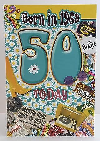 Carte D Anniversaire Pour Les 50 Ans D Une Femme Avec Le Message