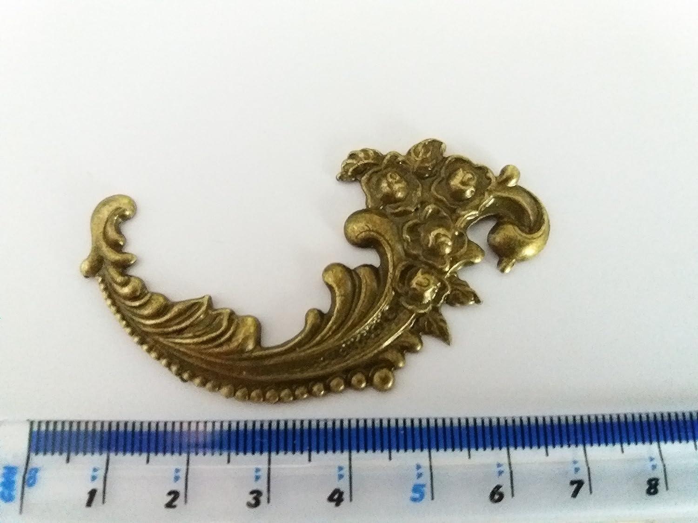 4 x oro antico finitura bronzo Swirl abbellimento gioielli scatola di legno invecchiato C113 Celtic Woods