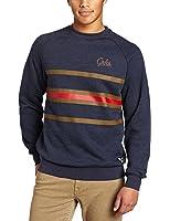 Crooks & Castles Men's Knit Crew Neck Sweatshirt