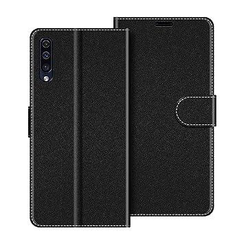 COODIO Funda Samsung Galaxy A50 con Tapa, Funda Movil Samsung A50, Funda Libro Galaxy A50 Carcasa Magnético Funda para Samsung Galaxy A50, Negro