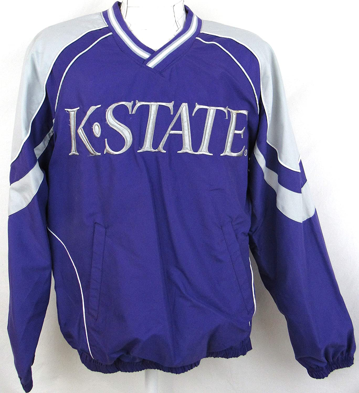 Purple NCAA Kansas State Wildcats Mens Team Color Crewneck Sweatshirt Medium
