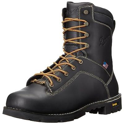 "Danner Men's Quarry USA 8""Black Work Boot | Industrial & Construction Boots"