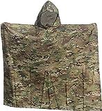 "Military Style Ripstop Nylon Poncho Size: 55 x 90"" Made in U.S.A. Ripstop Rain Poncho"