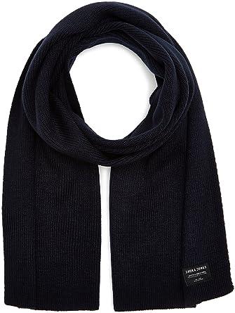Jack   Jones Jacdna Knit Scarf Noos, Echarpe Homme, Bleu (Navy Blazer) c52e0b6c4a4