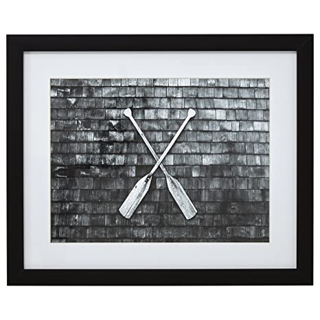 Amazoncom Black And White Crossed Oars Photo Black Frame 18 X