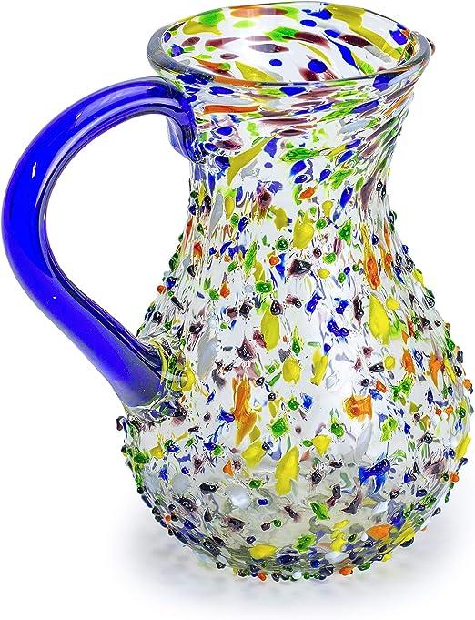 jarr/ón Azul de Cristal soplado Jarr/ón Decorativo con Amor mitienda 24 cm