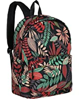 Girls' 16-Inch Tropical Floral Print High Student School Backpack, Everyday Casual Daypack