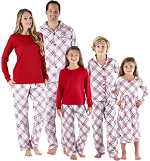 SleepytimePjs Christmas Family Matching Grey and Red Plaid Flannel PJs Sets  for The Family 08475e61e