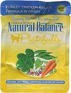 Natural Balance Indoor Platefuls Turkey/Chicken/Duck Cat Pouch, 3 Oz