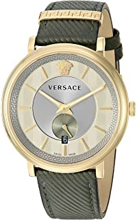 Versace Men s  The Manifesto Edition  Quartz Stainless Steel and Leather  Casual Watch, Color abd066f730f