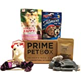 Prime Pet Box Small Dog Gift Box Care Package - Made in the USA Premium Treats, Rabbit, Lamb-chop, and Rope Toy