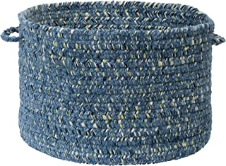 product image for Colonial Mills West Bay Utility Basket, 14 by 10-Inch, Blue Tweed
