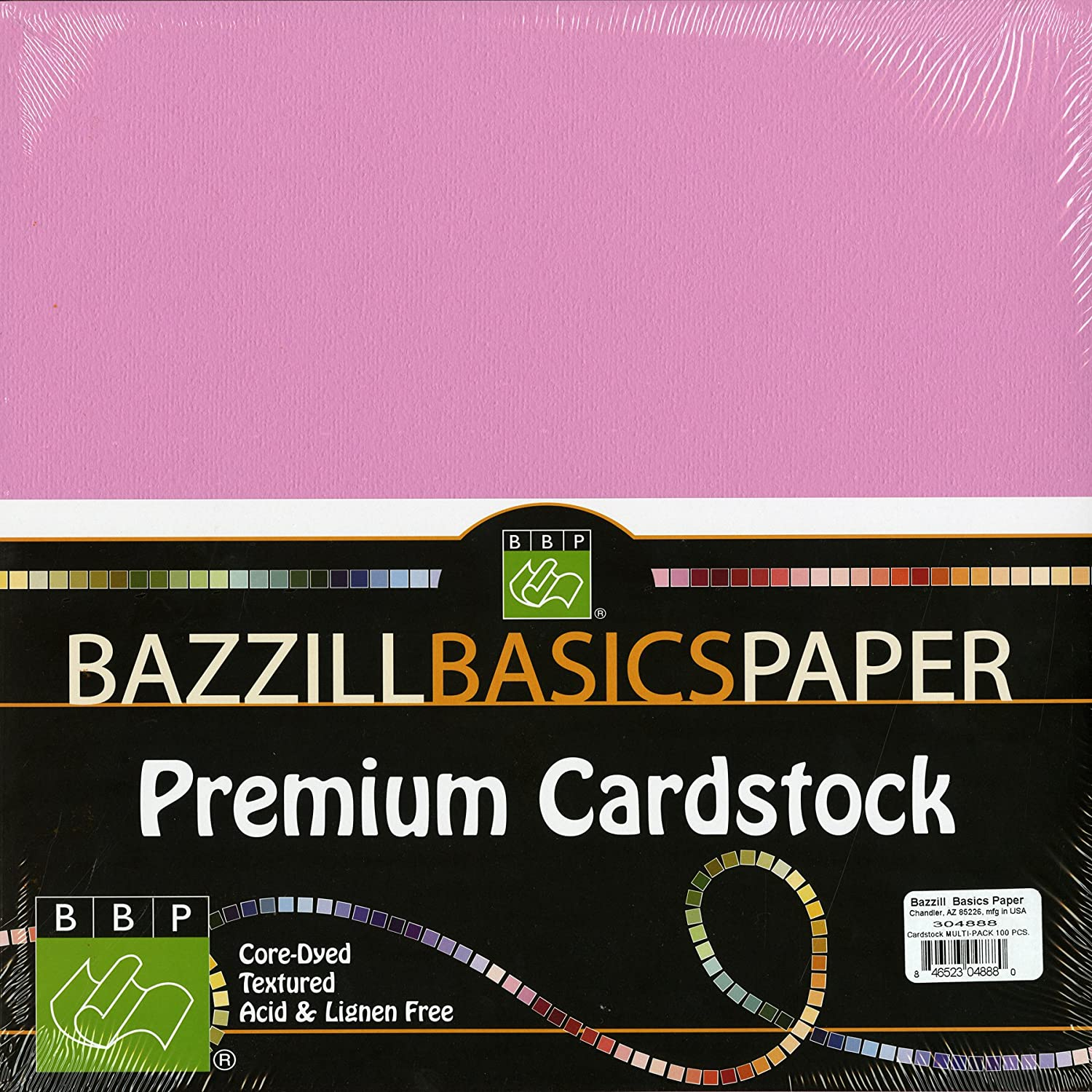 Multi colored cardstock paper - Amazon Com Bazzill Basics 304888 100 Piece 12 Inch By 12 Inch Paper Pack