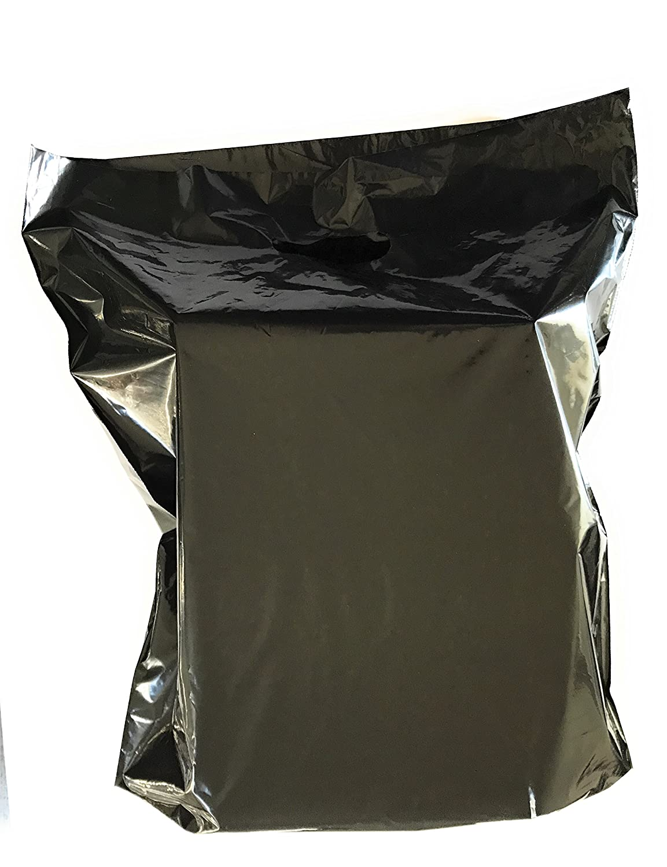Amazon.com: 100 Bolsas de mercancía 15 x 18 negro, Die Cut ...