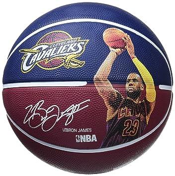 half off 78312 541fa Spalding NBA Player Lebron James Ball Basketball Mixte Adulte,  Marine Bordeaux, 5