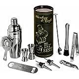 Mixology Bartender Kit: 12-Piece Bar Set For an Awesome Drink Mixing Experience - Bartending Bar Supplies w/Large Capacity Martini Shaker - Bonus: 1- Gorgeous Recipes Catalog 2- Premium Cocktail Picks