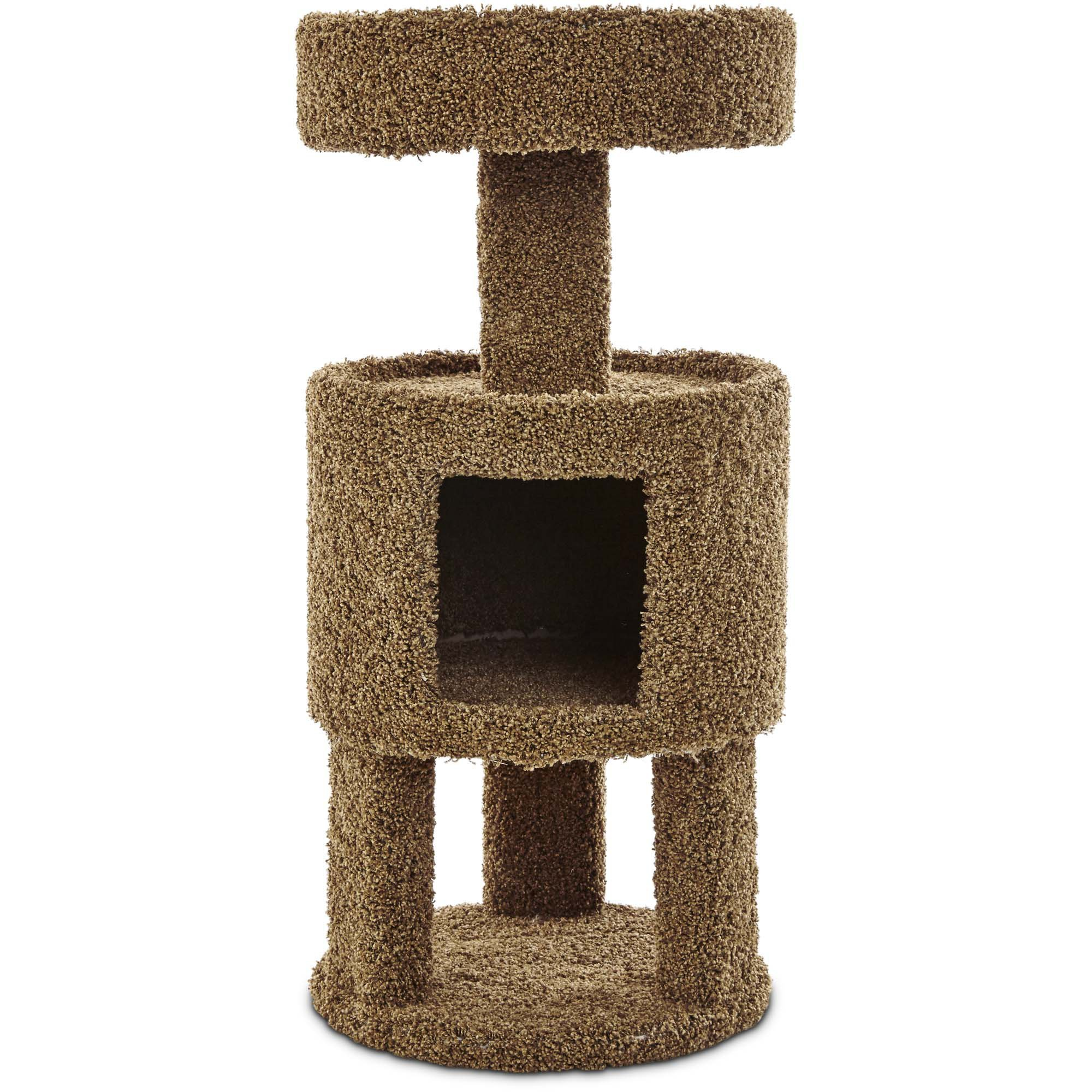 You & Me Kitty Suite Cat Tower, 36'', Brown by You&Me