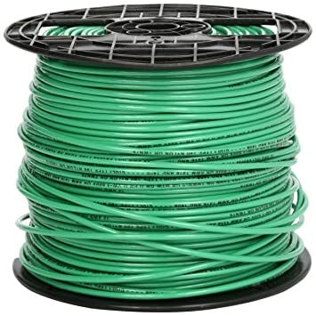 Amazon southwire 22968201 stranded thhn 12 gauge building southwire 22968201 stranded thhn 12 gauge building wire 500 feet green greentooth Images