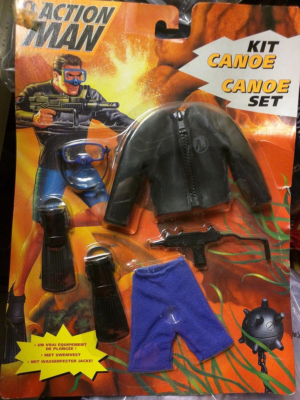Action Man Hasbro Canoe Kit 1996 Flippers Mask And Waterproof Jacket Spielzeug