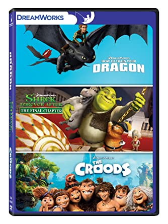 b2de4784651c2d Amazon.in  Buy Animation Collection - 3 Movies  How to Train Your Dragon +  Shrek  Forever After - The Final Chapter + The Croods DVD