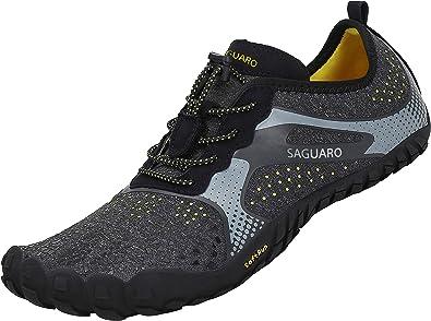 SAGUARO Barefoot Zapatillas de Trail Running Minimalistas Zapatillas de Deporte Exterior Interior Zapatos de Deportes Acuaticos,Unisex-Adulto: Amazon.es: Zapatos y complementos
