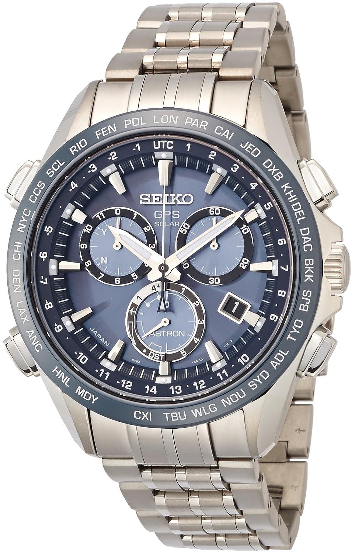 8d589176d Amazon.com: Seiko Blue Dial Titanium Chronograph Quartz Men's Watch SSE005:  Clothing