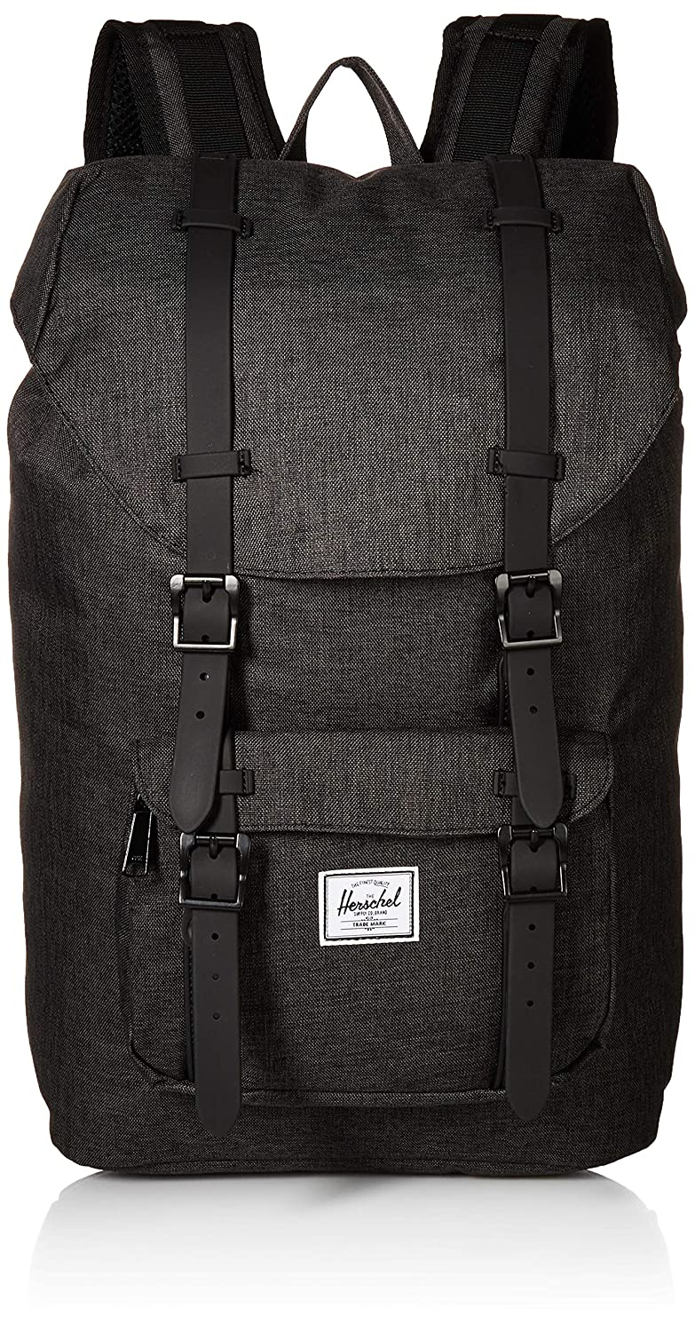 618e0a9c46e Mochila Herschel Little America Mid-Volume Black Crosshatch Black   Amazon.co.uk  Shoes   Bags