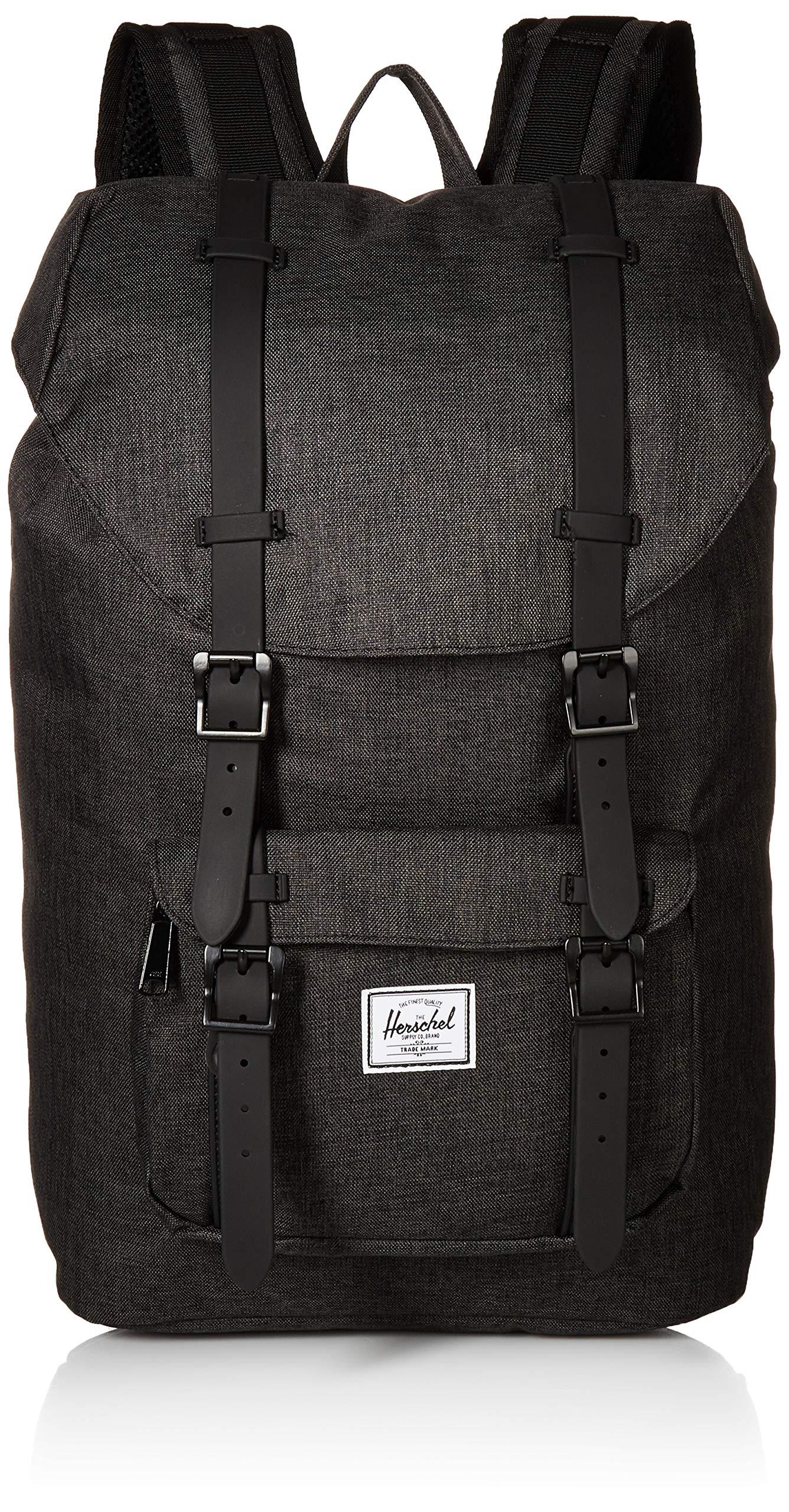 Herschel Little America Mid-Volume Backpack, Crosshatch/Black, One Size