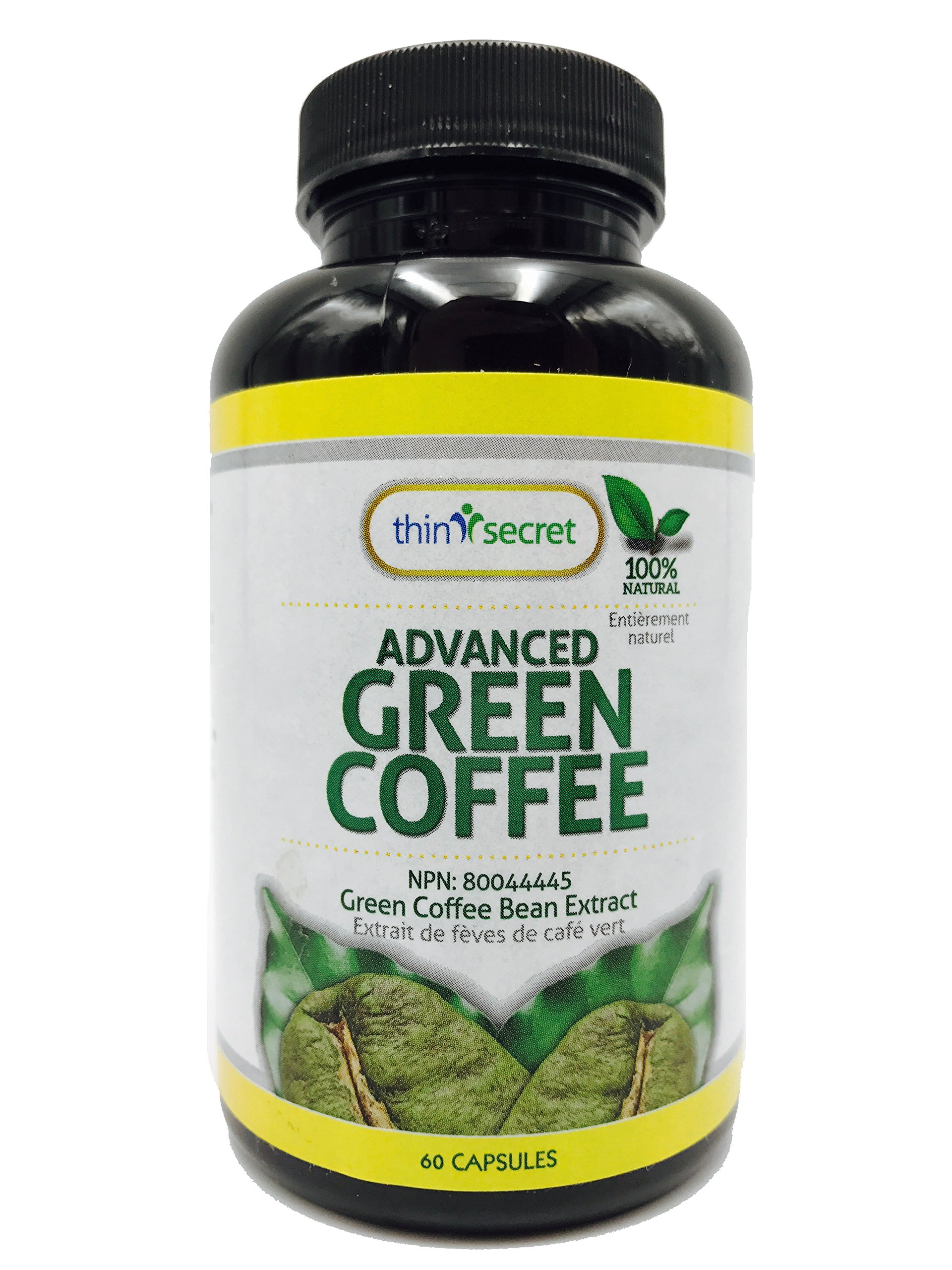 Thin Secret- Advanced Green Coffee-Premium Weight Management Formula-100% Natural-Potent Weight Loss Pills for Men and Women - Metabolism Booster - Powerful Antioxidant 60 Capsules