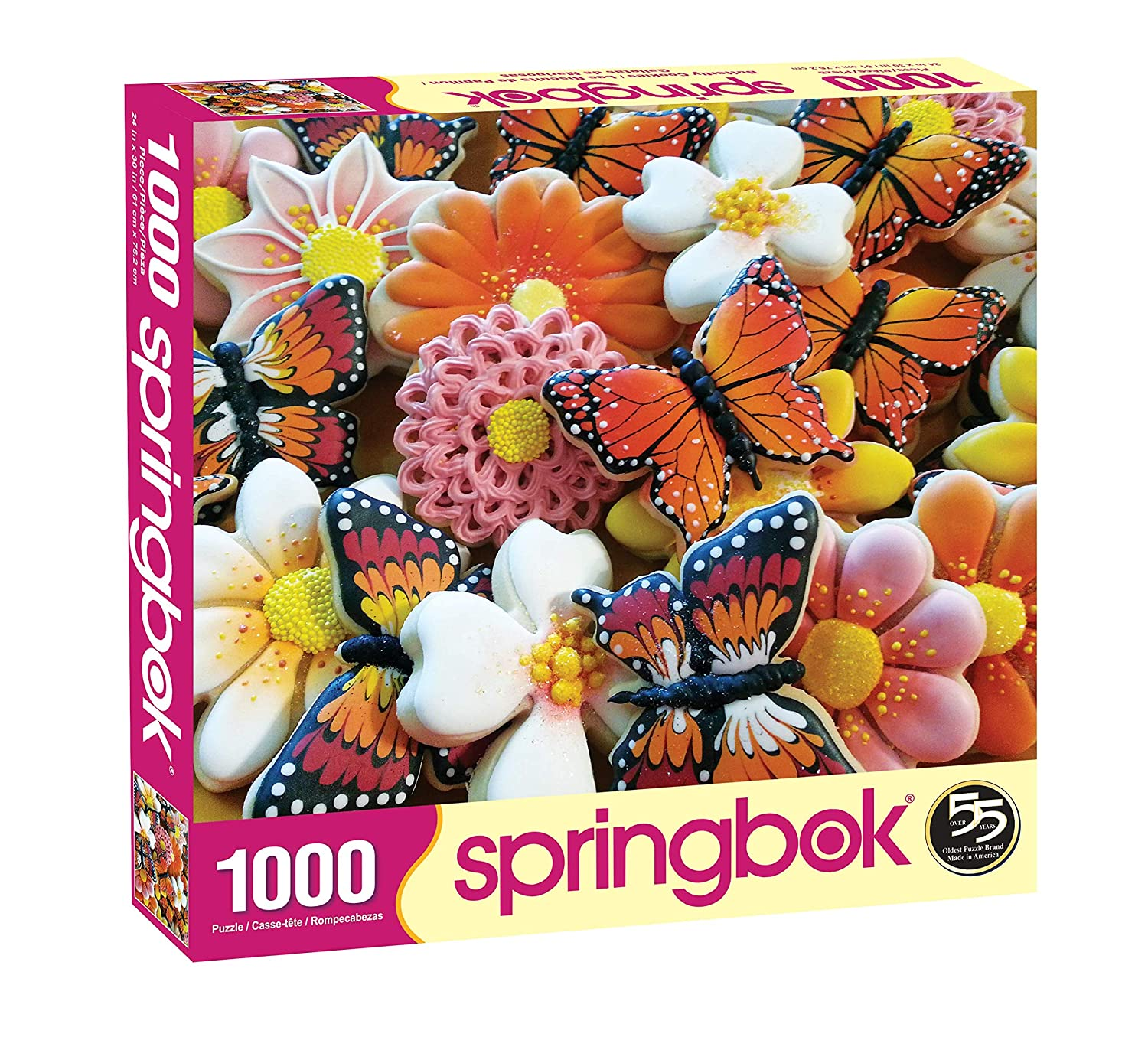 Springbok Butterfly Cookies 1000 Piece Jigsaw Puzzle and Apron Gift Set