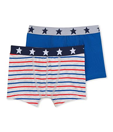 Petit Bateau Set of 2 Boys Striped Boxers Sizes 2-18 Style 28976-44454