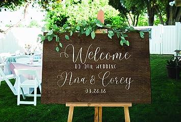 Amazon Com Wedding Welcome Decal Or Stencil For Diy Wedding