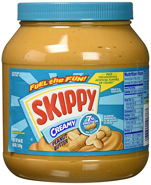 Skippy Peanut Butter, Creamy, 64 Ounce