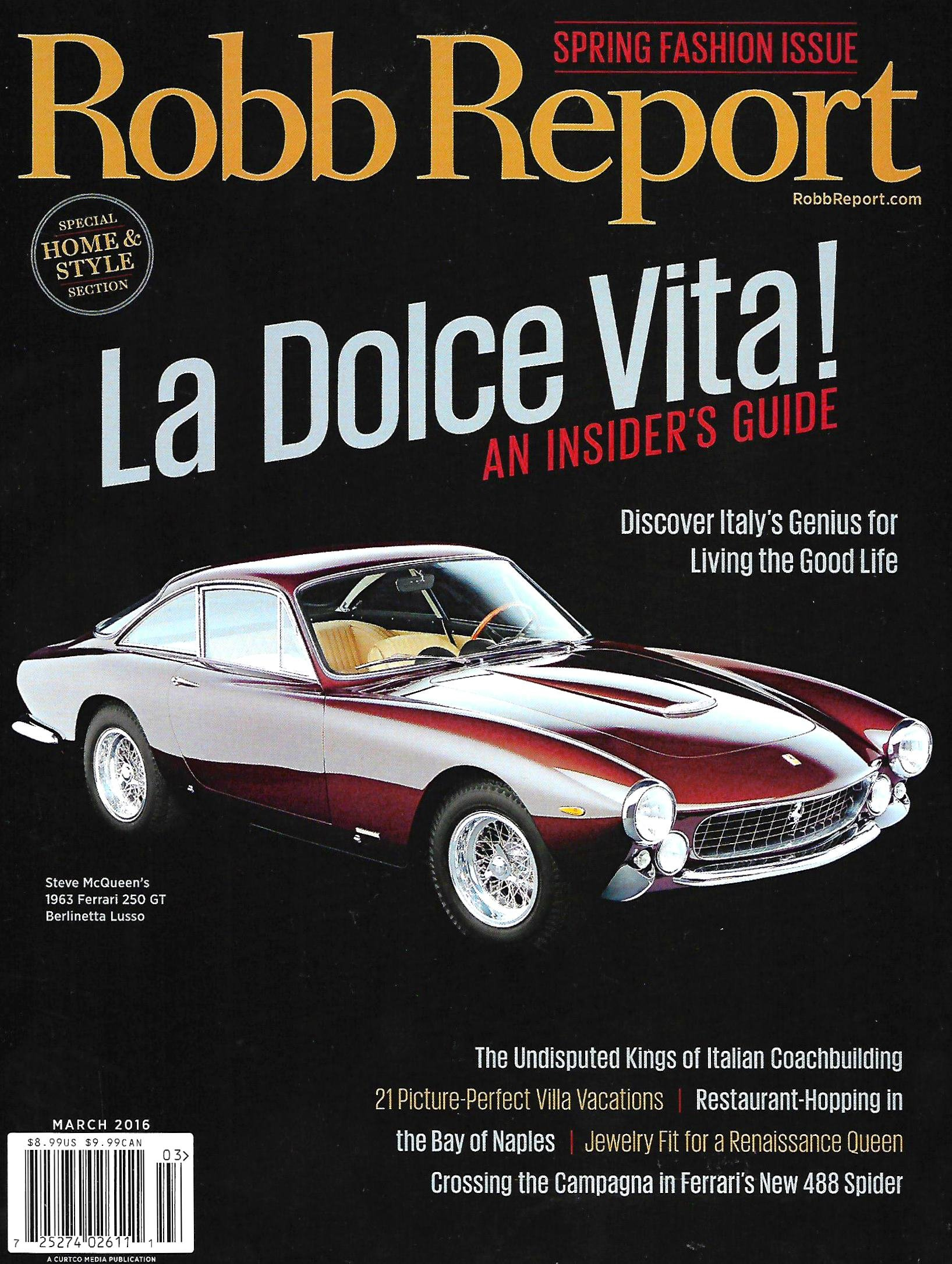 Read Online Robb Report Magazine (March, 2016) Italy's Insider's Guide for Living The Good Life pdf epub