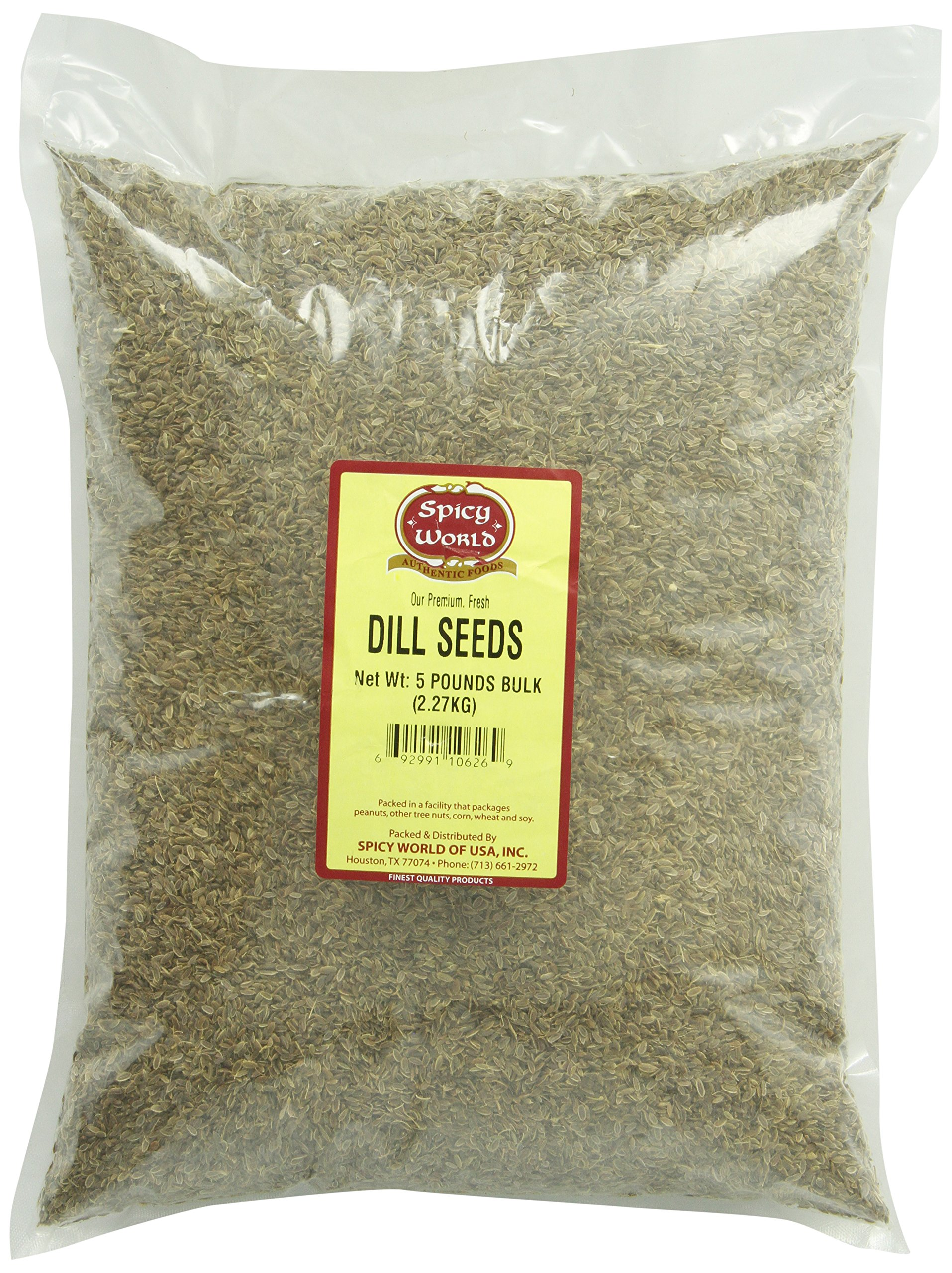 Spicy World Dill Seeds Bulk, 5-Pounds