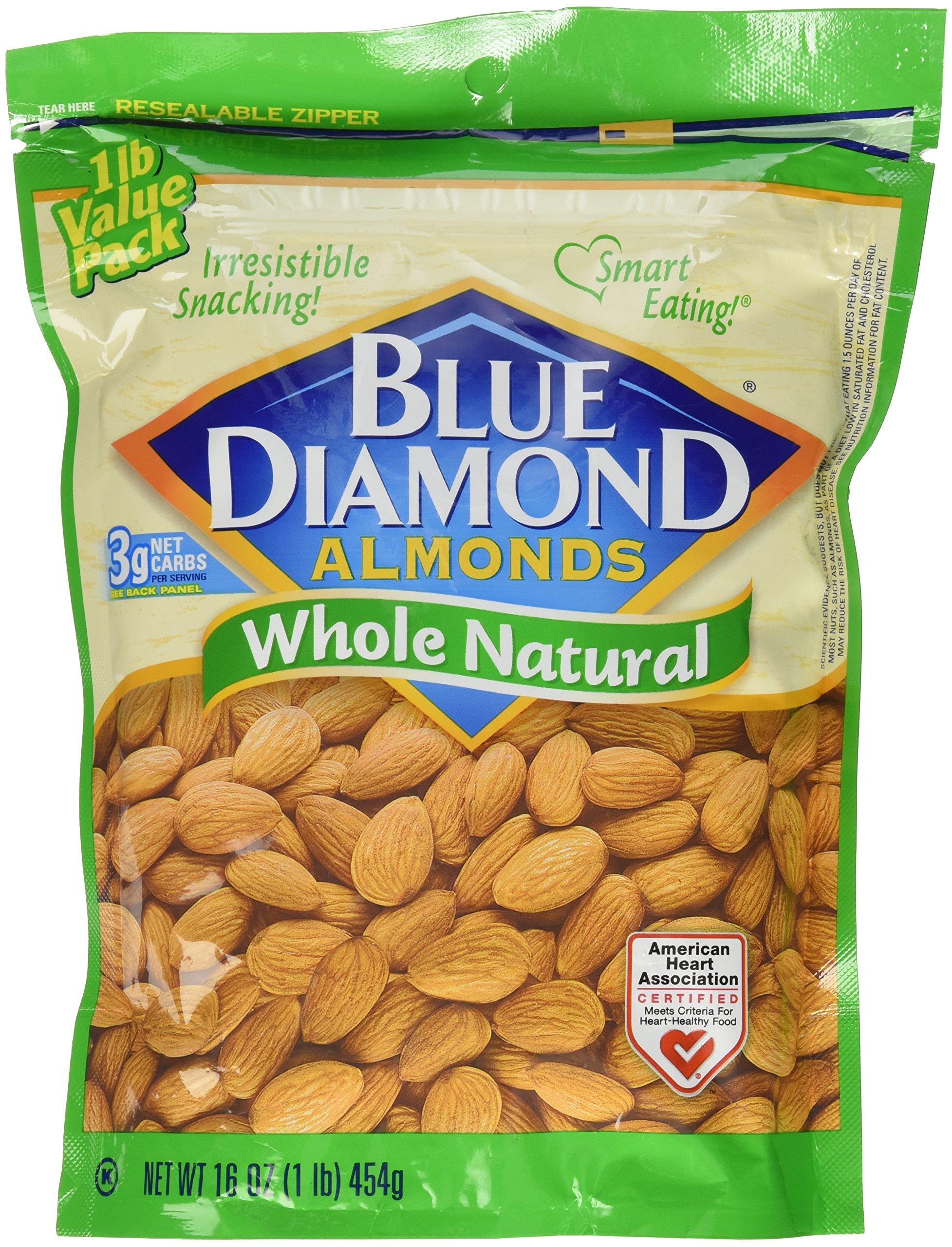 Blue Diamond Almonds, Raw Whole Natural, 16 Ounce by Blue Diamond Almonds (Image #2)