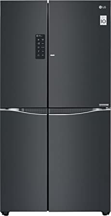 LG 679 L Frost Free Side-by-Side Refrigerator(GC-M247UGLB.ALBQEBN, Luminous Black, Inverter Compressor)