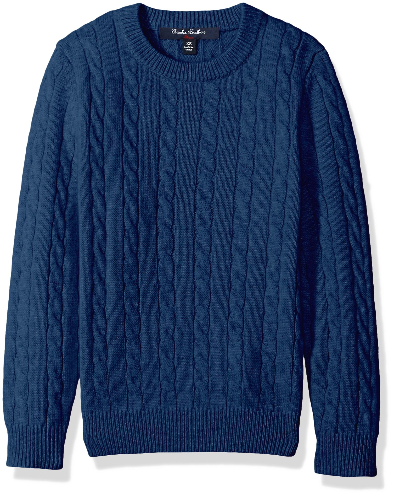 Brooks Brothers Big Boys' Cashmere Crewneck Sweater, Dark Blue, Medium
