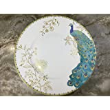 222 Fifth Peacock Garden Dinner Plates, Set of 4