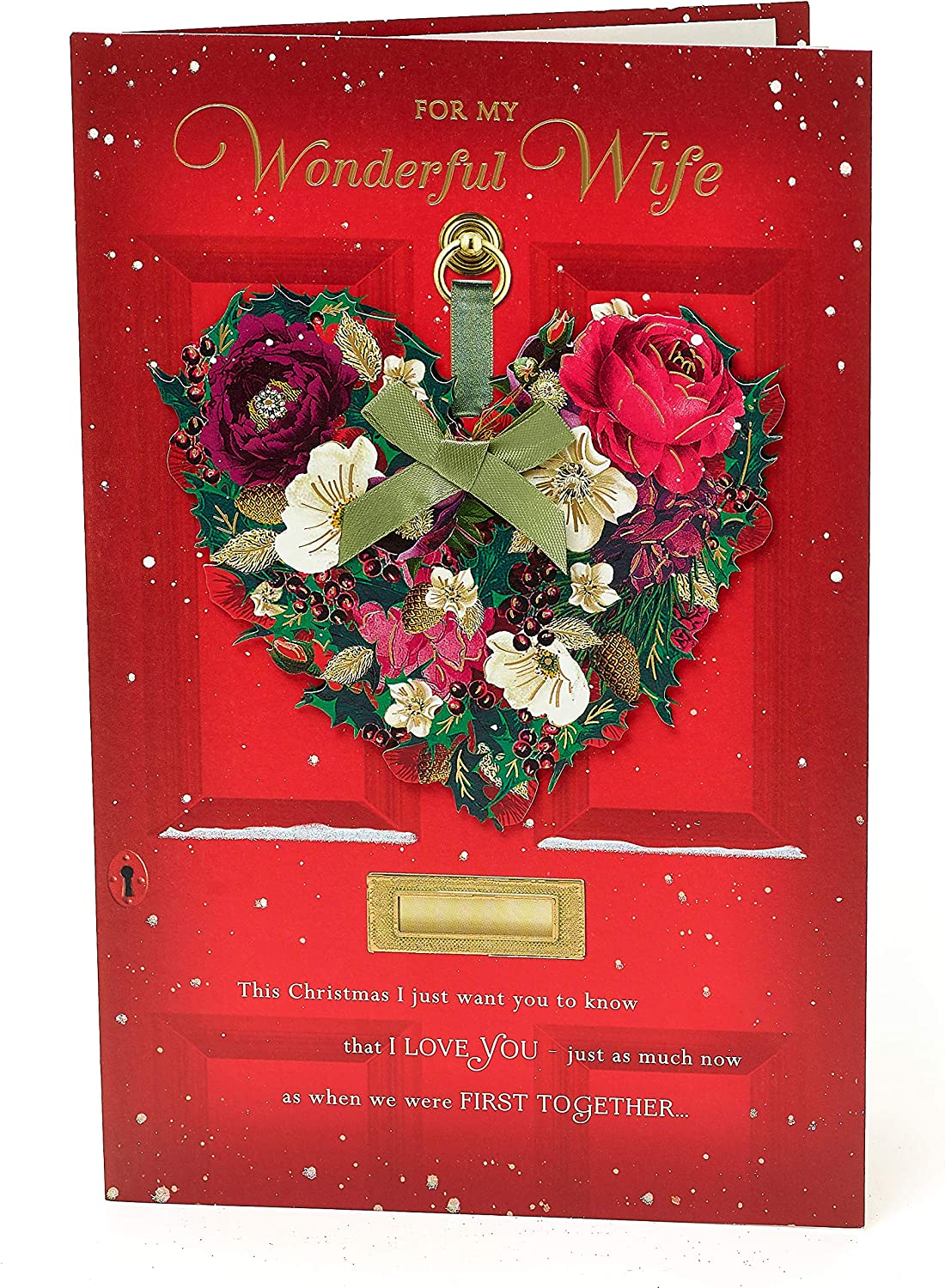 Amazon Com Wife Christmas Card For Wife Luxury Wife Christmas Card Gift Card For Her Wife Christmas Gifts Office Products