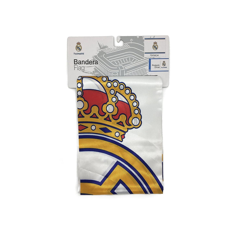 Producto Oficial Real Madrid Bandera del Real Madrid (Escudo 50x75 cm)