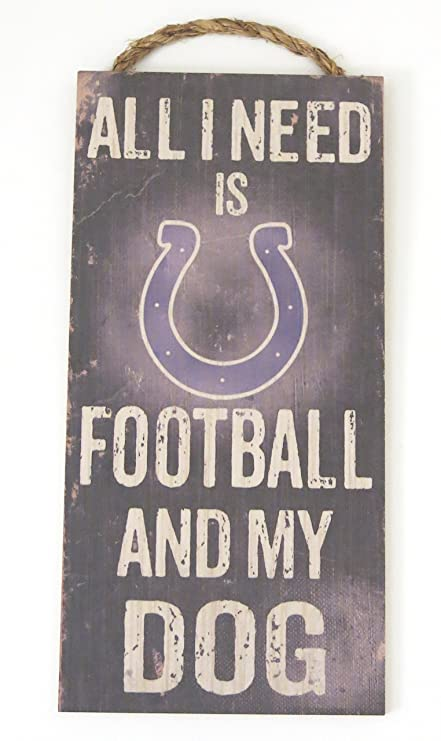 Amazon.com : Indianapolis Colts, Dog sign. wall decor, Wood sign is ...