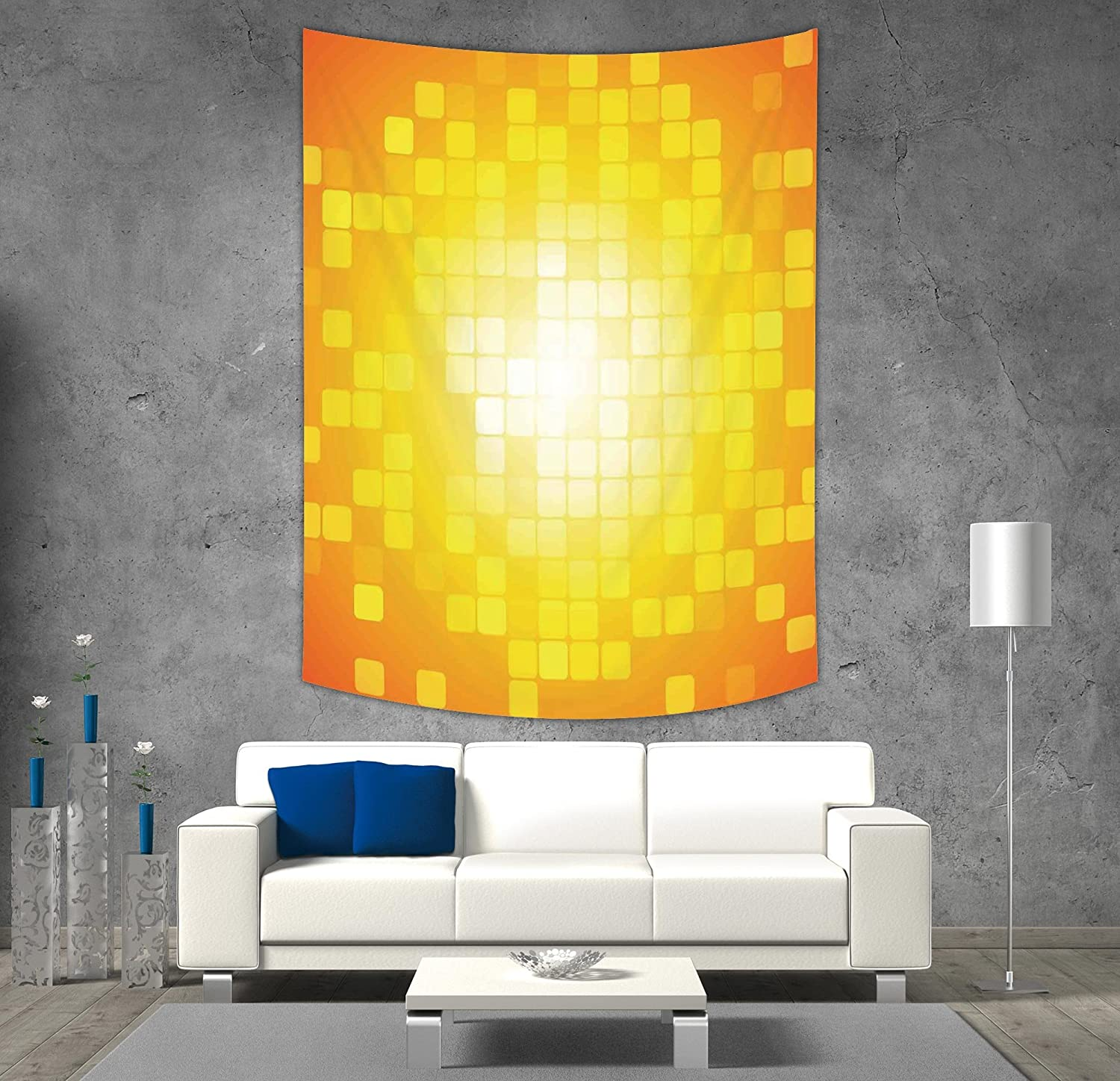 iPrint Polyester Tapestry Wall Hanging,Geometric,Heart Shapes Love ...