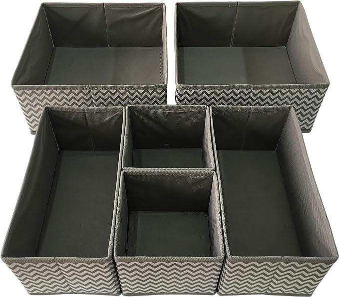 6 Sodynee Foldable Cloth Storage Cube Basket Bins Organizer Containers Drawers