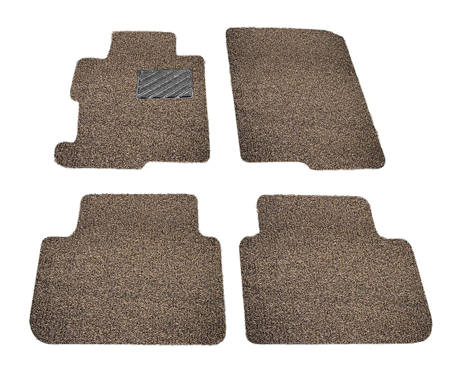 All Weather Protector 4 Piece Set AutoTech Zone Custom Fit Heavy Duty Custom Fit Car Floor Mat for 2014-2018 Volvo V60 Wagon Beige and Brown