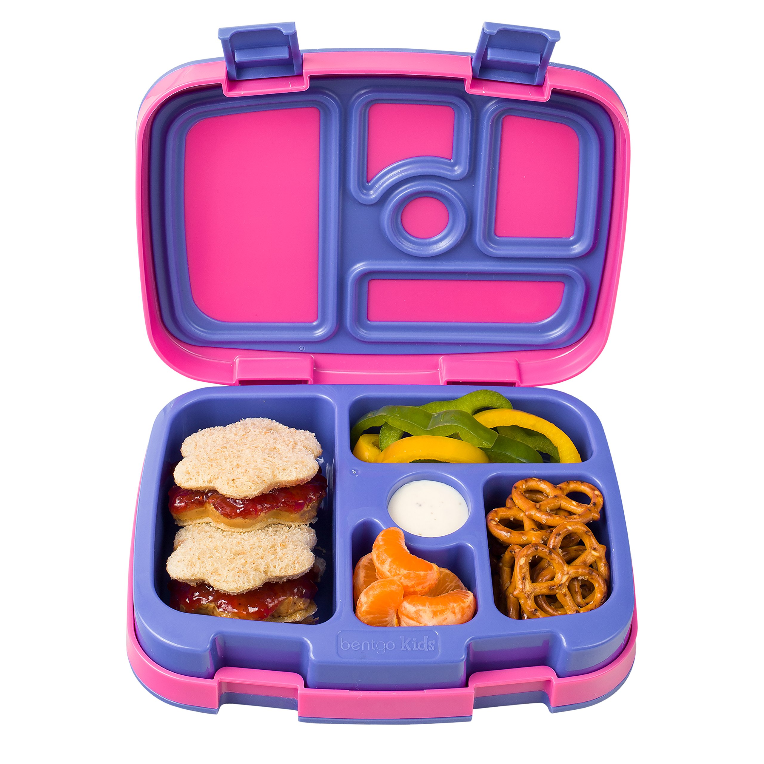 Bentgo Kids Brights - Leak-Proof, 5-Compartment Bento-Style Kids Lunch Box - Ideal Portion Sizes for Ages 3 to 7 - BPA-Free and Food-Safe Materials (Fuchsia) by Bentgo