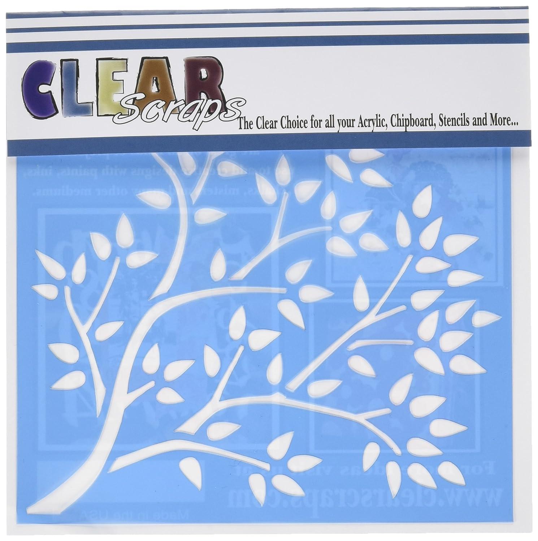 Clear Scraps Blue 6 x 6 Stencils, Tree Branch CSSMTRBRANCH