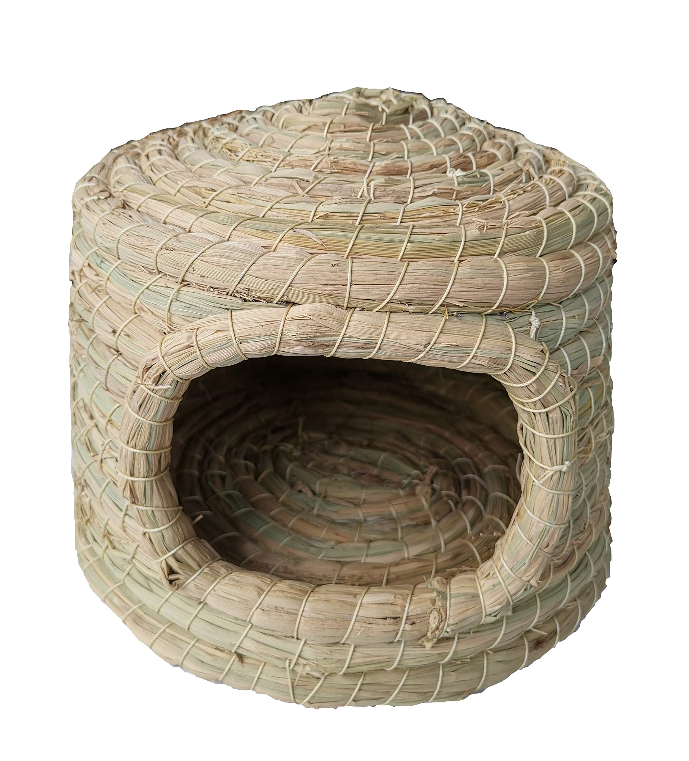 WOWOWMEOW Handmade Small Animal Natural Woven Grass Hammock Cave Bed for Guinea-Pigs, Rabbits, Hamsters, Squirrels, Chinchillas and Hedgehogs (M)
