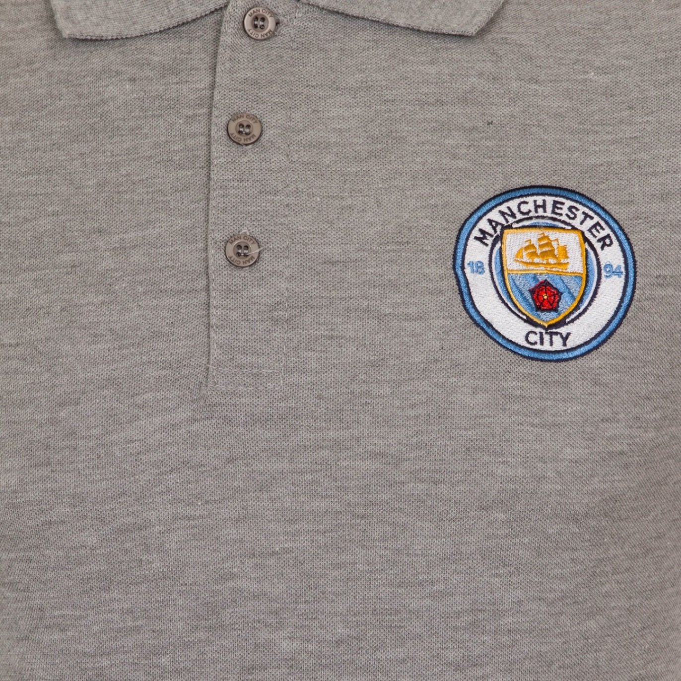 Manchester City Football Club Official Football Gift Boys Crest Polo Shirt